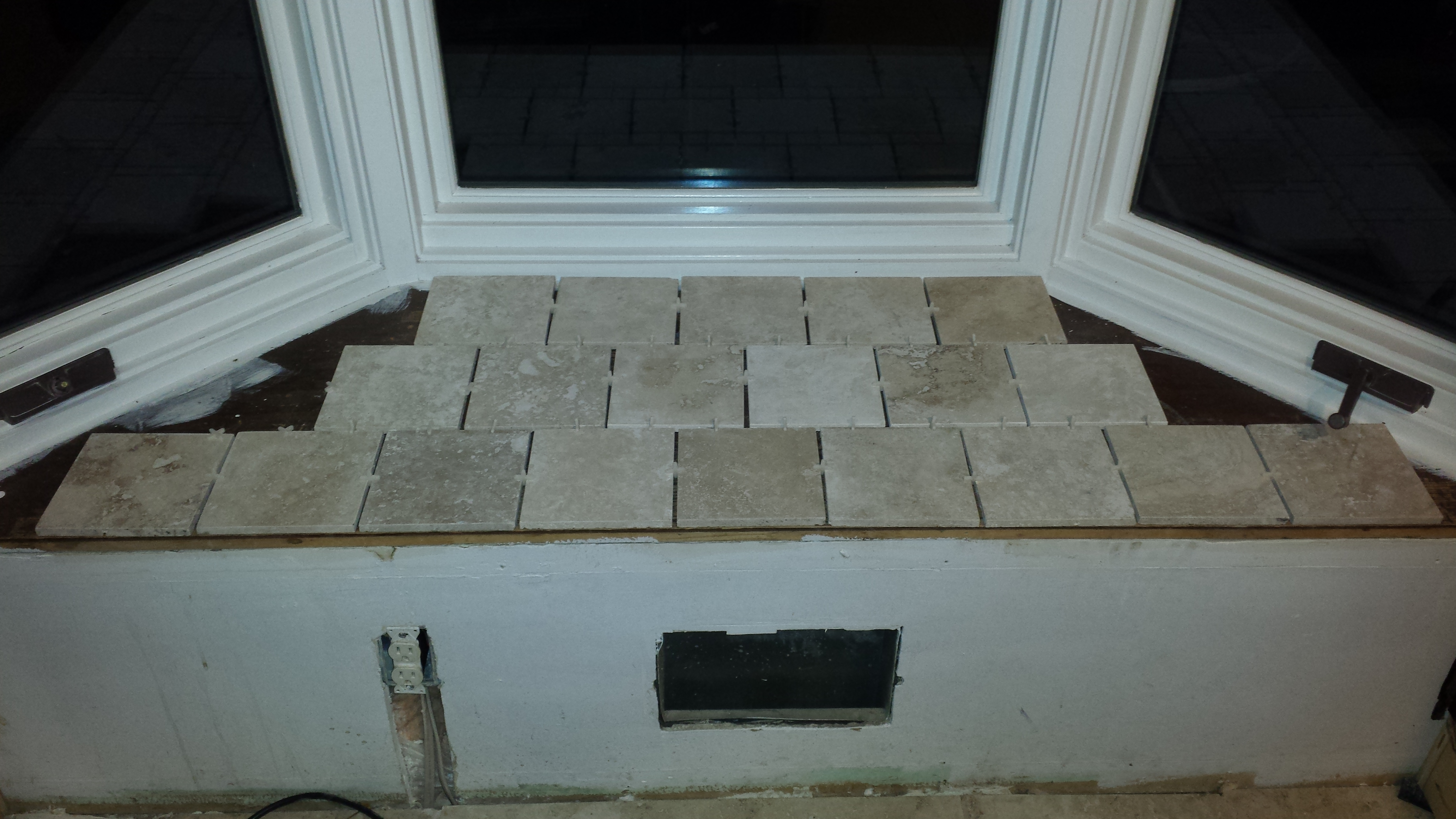 Pleasing Tiling Bay Window Seat Diy Step By Step Aubs Bloggin Machost Co Dining Chair Design Ideas Machostcouk